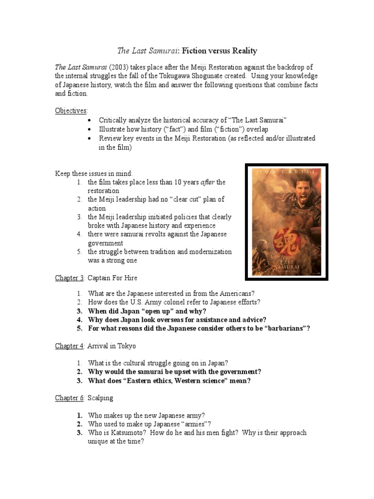 the last samurai questions and answers