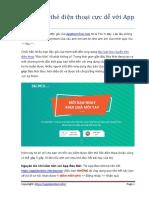 Kiếm 50k Thẻ Điện Thoại Cực Dễ Với App Báo Mới