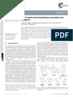 C4–H indole functionalisation