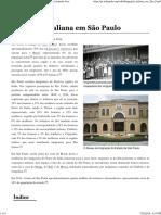 (Web) Wikipédia. Imigração Italiana Em São Paulo