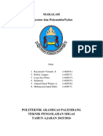Makalah Petrokimia Polyester Dan Polyamida