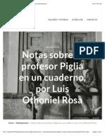 Notas Sobre El Profesor Piglia en Un Cuaderno, Por Luis Othoniel Rosa