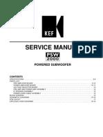 Kef Psw2000 Service Manual