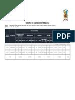 Liquidacion Salvio Santa Rosa de Huarmita
