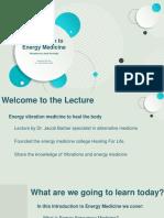 Energy Medicine Dr. Jacob B