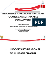 Indonesias Approaches to Climate Change and Sustainable Development - Bali 27 Oktober 2015