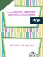 Actividades categorias semanticas