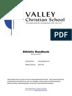 Valley Christian School - Athletic Handbook