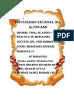 Informe Final de Aforo- Hidrologia