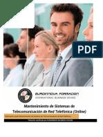 Mf1565 2 Mantenimiento de Sistemas de Telecomunicacion de Red Telefonica Online
