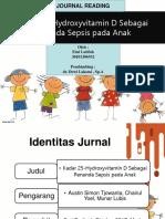 Hydroxyvitamin D sebagai tanda sepsis pada anak jurnal