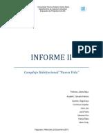 Informe II Complejo Habitacion Nueva Vida Grupo FINAL