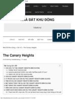The Canary Heights _ Thông tin chính thức từ Chủ Đầu Tư ®