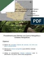 procedimiento para la delimitacion cuencas hidrograficas
