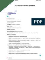 Calculo de Estructuras Por Ordenador