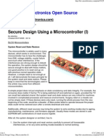 Secure Design Using a Microcontroller (I)