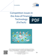 Competition Issues in teh Area of Financial Technology