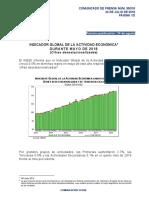 Indicador Global de la Actividad Económica durante Mayo de 2018 (Cifras desestacionalizadas)