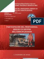Equipos Multidiciplinarios EN MINERIA