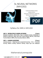 Artificial Neural Networks (Mh1202)