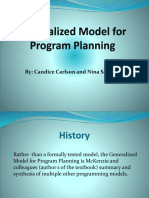 Generalized Model for Program Planning1