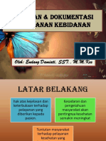 Catatan Dan Dokumentasi Pelayanan Kebidanan