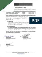 Acta de Trasnferencia de Gestion e Informe Misional