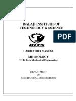 Metrology-Lab-Manual 3 Year 1sem