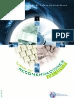 ITU-T Listado Descripción RECs