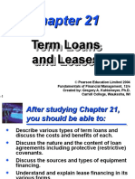 Term Loans and Leases
