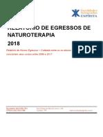 Relatório 2018 de Egressos de Naturoterapia