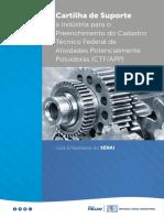 Cartilha Preenchimento Cadastro Técnico Federal Atividades Poluidoras 2017