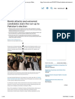 Bomb Attacks and Extremist Candidates Stain the Run-up to Pakistan's Election