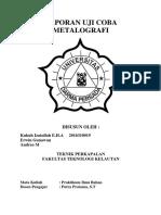 Laporan Uji Coba Metalografi