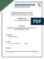 SISTEMA DE CAPTACION DE AGUA DE LLUVIA