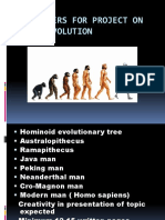 Parameters for Project on Human Evolution