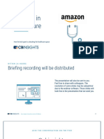 CB Insights Amazon in Healthcare Briefing