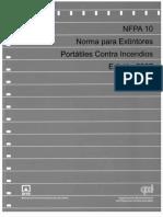 NFPA 10 Norma Para Extintores Portátiles Contra Incendios Edición 2007
