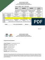 ROTINA SEMANAL - Modelo Fundamental 1