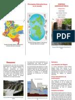 Ubicación de Centrales Hidroeléctricas en Colombia