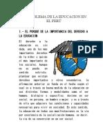 El Problema de La Educacion en El Perú
