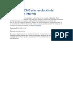 El Servidor DNS y La Resolución de Nombres en Internet