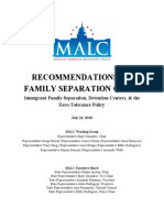 MALC Working Group Policy Recommendations on Family Separation