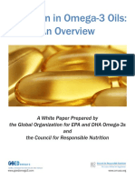 Oxidation in Omega-3 Oils- An Overview