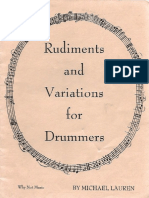 Rudiments and Variatons for Drummers