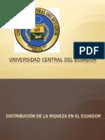 Distribución de La Riqueza en El Ecuador