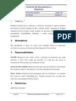 Procedimento de controle de documentos e registros