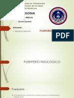 19. PUERPERIO FISIOLOGICO