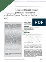 Comparative Evaluation of Fluoride Release