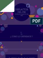 Deflactor Del Pbi